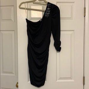 NIKIBIKI one arm sleeve dress women's size Large
